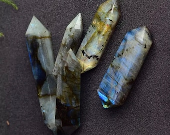 Labradorite- 40-70mm/70-90mm/90-110mm (1x) - Double Terminated Points
