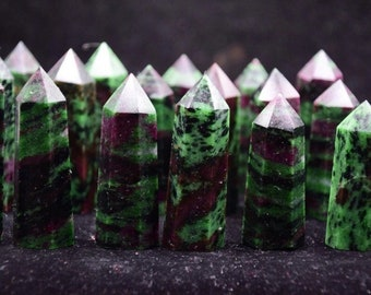 """Ruby Zoisite- 3""""  (~20x) Towers"""
