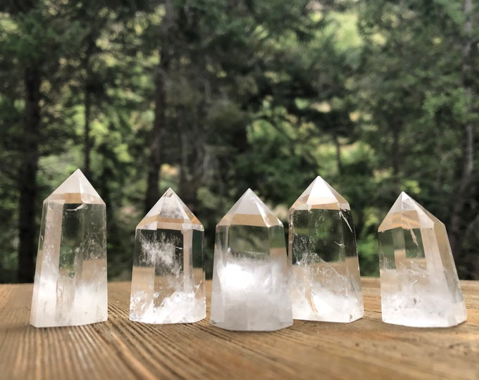 "Featured listing image: Clear Quartz- 1.5"" (1x) Towers"