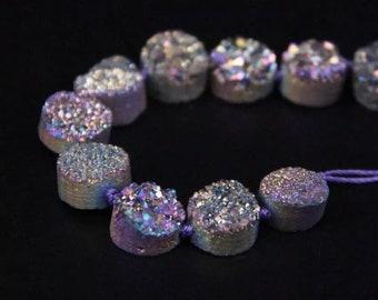 Titanium Aura Druzy (16x beads)