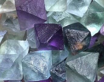 Fluorite Octohedrons - 10 pieces