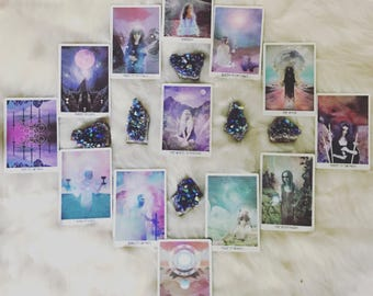 """TAROT reading """"ANNUAL"""" (card for every full moon for next year) • 13 cards • spirit guides give insight"""