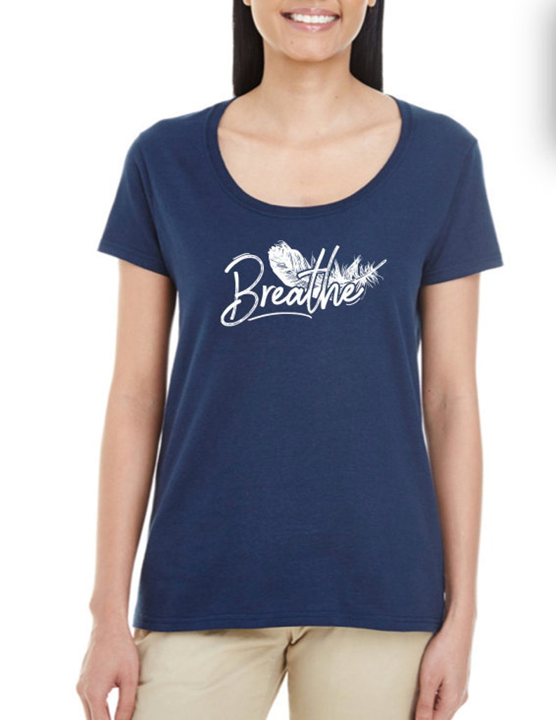 Breathe for Rise Up N Build  Women's Tee & Tank Top SCOOP NECK
