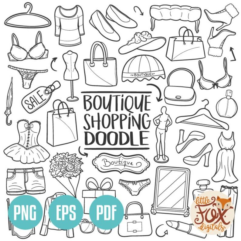 b2eaf9f02d94 VETTORE EPS Boutique Shopping donna Negozio tradizionale | Etsy