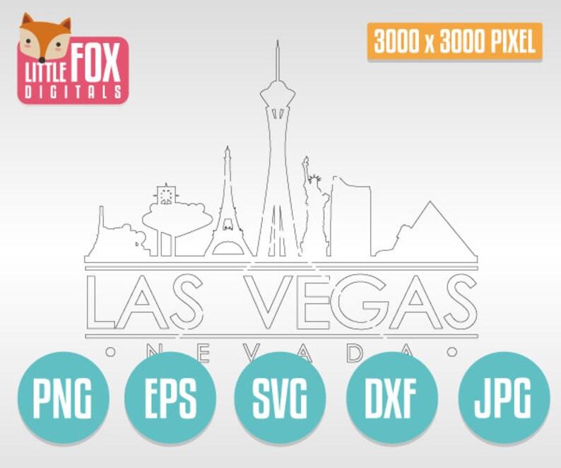 Las Vegas Cut File Skyline City Las Vegas Cut Design Silhouette Vector. Las Vegas Skyline Silhouette Nevada Usa SVG SKYLINE Las VEGAS