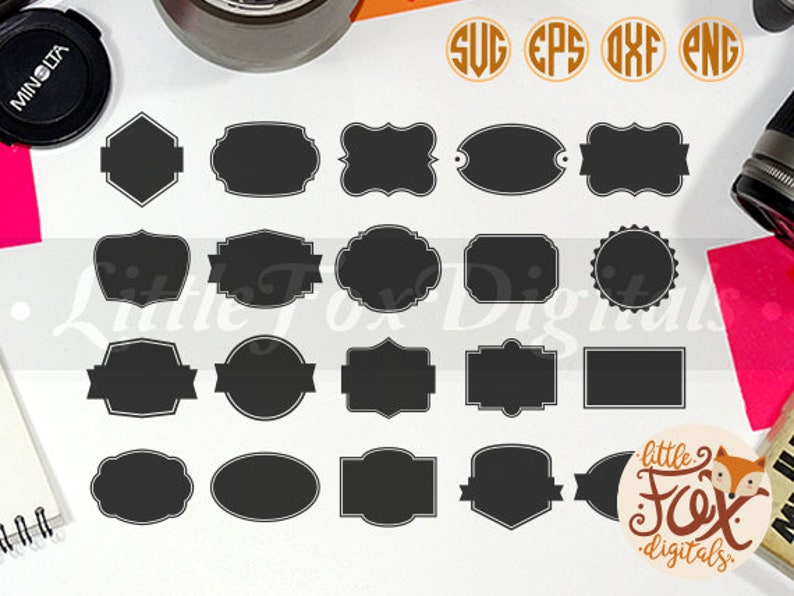 SVG Label Design, Label Vector, Label Scrapbook Silhouette Digital  Silhouette Vector Digital Illustration Scrapbook svg eps png Cut File