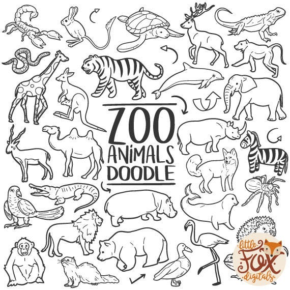 Pictures Zoo Safari Wild Animal Doodle Icons Clipart Scrapbook Set Hand Drawn Sketch Line Art Coloring Hand Drawn Colection Scribble Design Sketch Etsy Zoo Safari Wild Animal Doodle Icons Clipart Scrapbook Set Hand Etsy