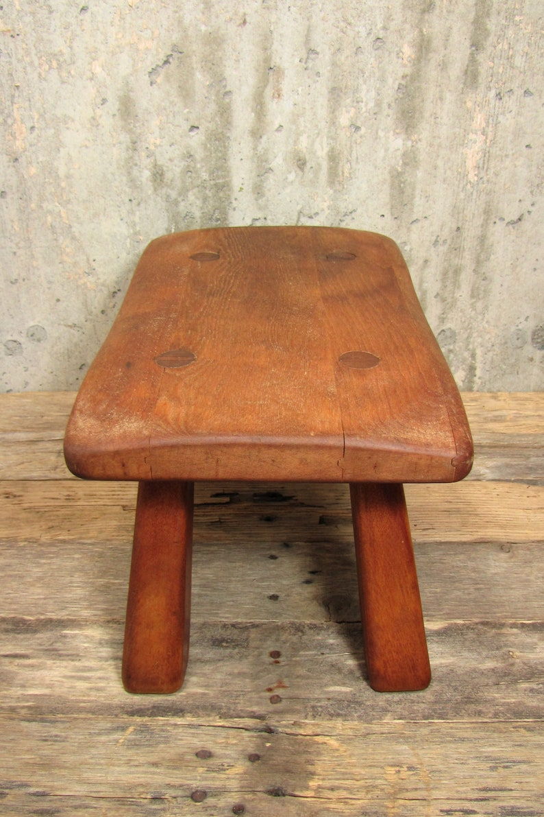 Fabulous Vintage Wood Cricket Bench Cushman Wooden Peg Tongue And Groove Farmhouse Milking Stool Bralicious Painted Fabric Chair Ideas Braliciousco