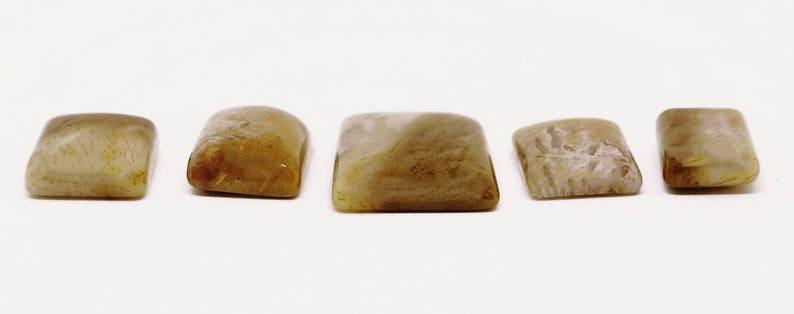 5 Pieces Palm Root Jasper Cabochons Lot 13x19mm to 22x27mm Cushion Shape Natural Jasper Gemstone Cabs Smooth Gems Loose Stone Semi Precious