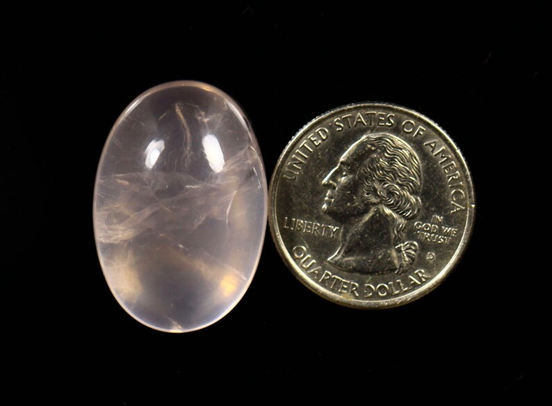 1 Piece Natural Rose Quartz Cabochon 20x29mm Oval Shape Rare Rose Quartz Cabs Gemstone Smooth Gems Cabs Loose Stones C-17196