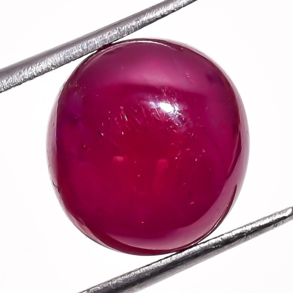 1 pièce en verre rempli rempli verre de Cabochon rubis naturel 12.3x13.2mm forme étrange Cab véritable rubis pierres précieuses taxis lâche pierres Cabochons précieux lisse gemmes da2c54