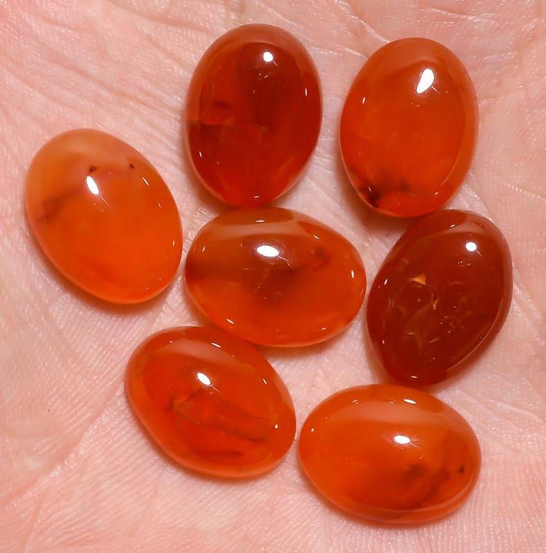 10 pieces orange carnelian round cabochon gemstone calibrated size