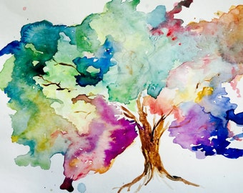 Colorful Tree Print