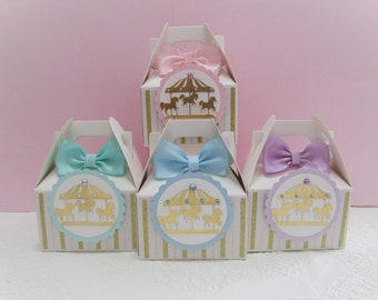 Carousel Horse Favor Boxes Baby Shower Carousel Favors Qty 10 Birthday Carousel Favor Boxes Favor Boxes Carousel Horse Party Favors