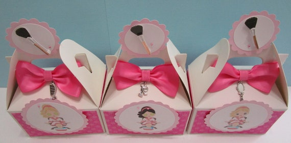 Girls Birthday Spa Favors Qty10 Spa Favor Boxes Spa Birthday Party Girls Spa Favor Boxes Spa Party Favors Spa Favors Spa Treat Boxes