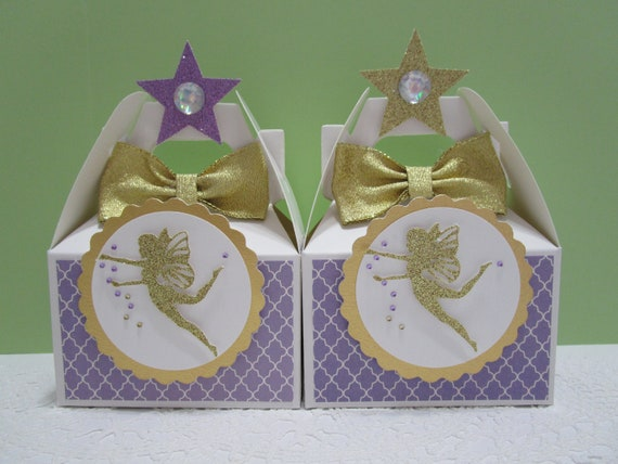 Fairy Favor Boxes Party Favors Birthday Pixie