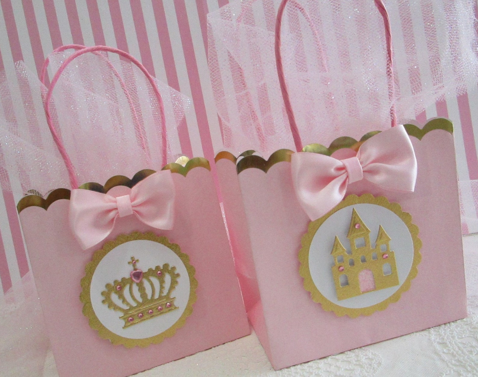 Princess Party Favor Bags for 10 Guests