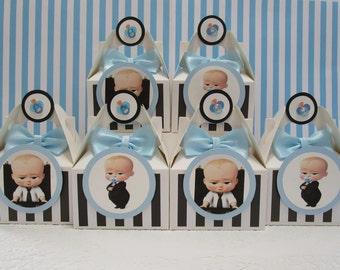 Boss Baby Favor Boxes, Boss Baby Shower, Boss Baby Party, Boss Baby Party Favors, Boss Baby Shower Favors, Boss Baby Shower Favor Boxes