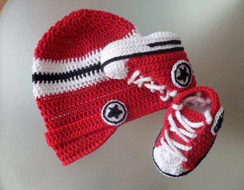 Design Personnalisé Crochet Couvertures bébé Chaussons /& hat set Buggy Garçons Filles Noël