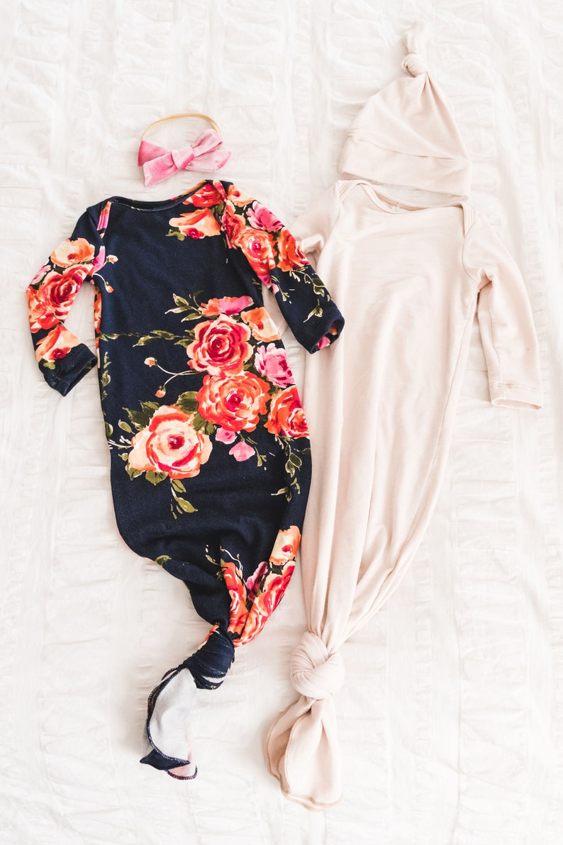 827ccaf058193 Knotted infant gown | knot baby gown | infant gown | newborn baby clothes |  newborn essentials | bringing home baby | knotted baby gown