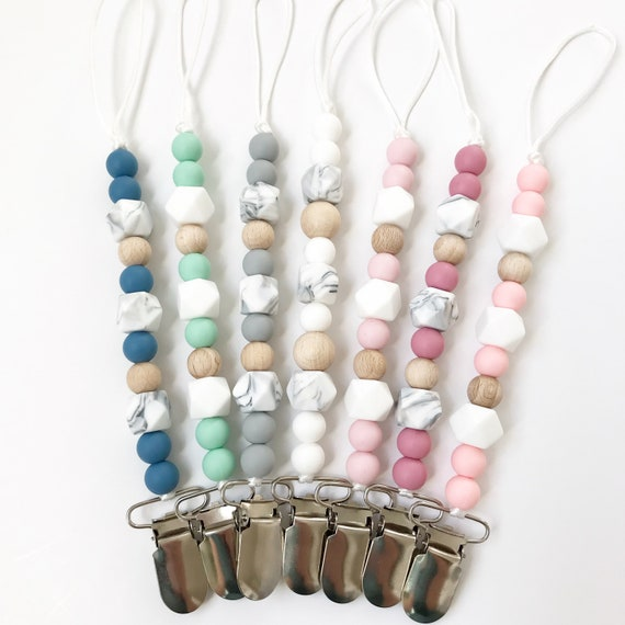 Baby Silicone Pacifier Chain Soother Pacifier Clip Bead Teether Toy Necessaries