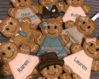 Wedding Favours Gingerbread people