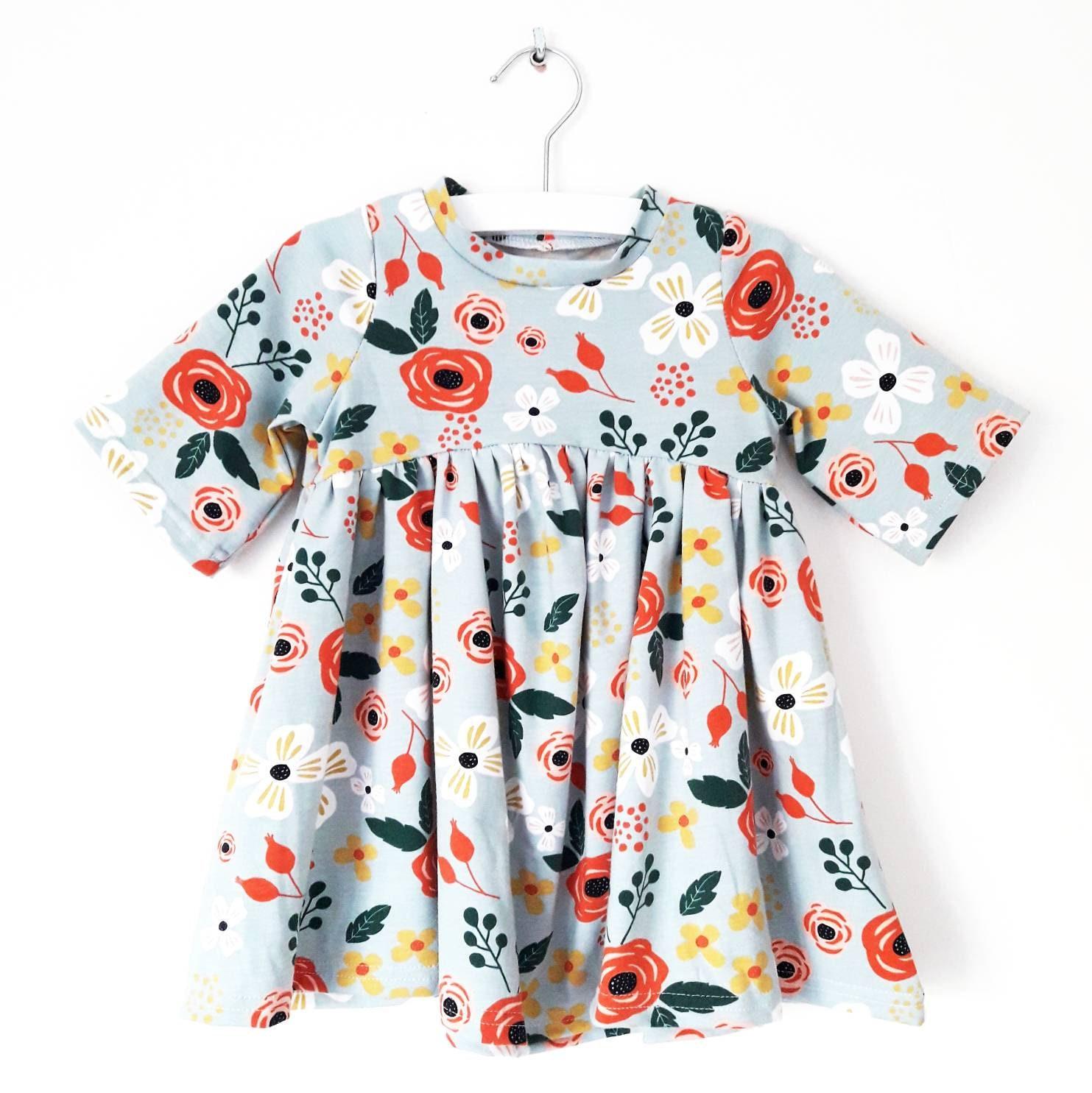 c25b9e8404de Girl bohemian flower dress Ruffle floral skirt dress for | Etsy