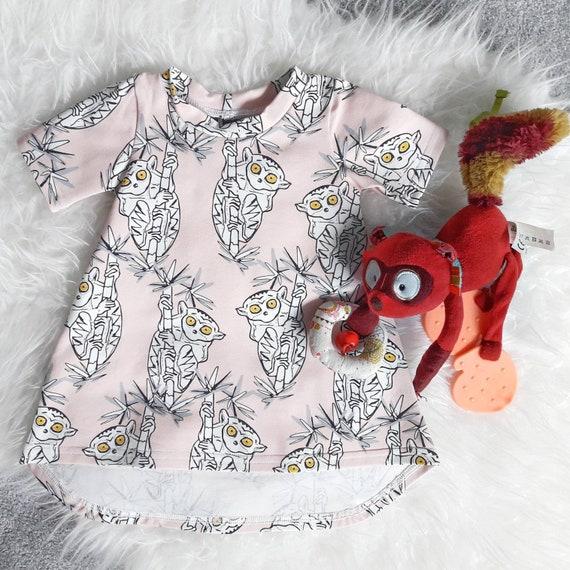 Baby Jurkje Met Spookdiertjes Kleedje Met Dieren Print Etsy
