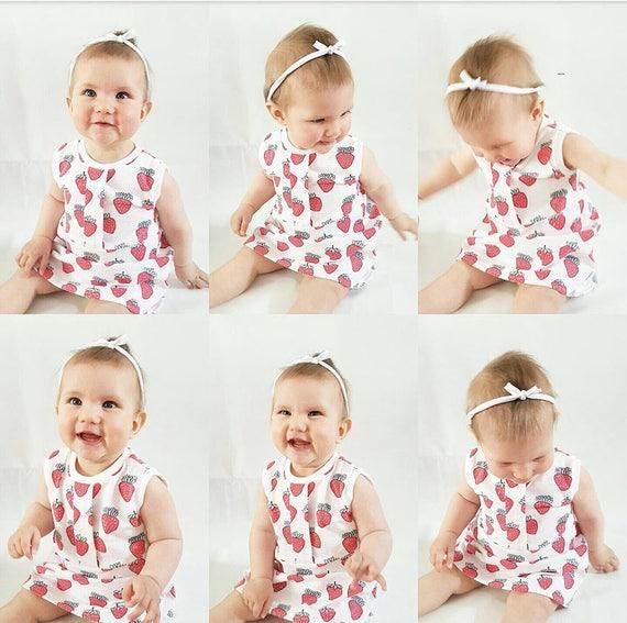 Großhandelspreis 2019 neu kaufen letzte Auswahl Baby Mädchen Sommerkleid-Erdbeerkleid-rotes  Geburtstagskleid-Kleinkindschlitten Obst-Baby Kleid für den  Sommer-Partykleid