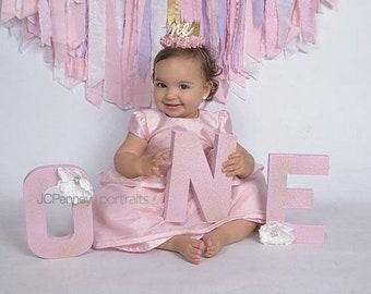 ONE First Birthday Prop Letters