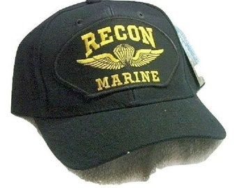 Vintage Recon Marine Black Ball Cap Never Worn 813c0b3024d4