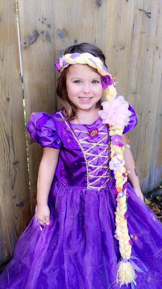 Tangled Rapunzel Headpiece Hair Wig Plait Braid Disney Etsy