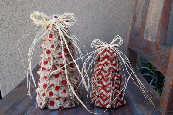 image 0 - Burlap Christmas Decorations