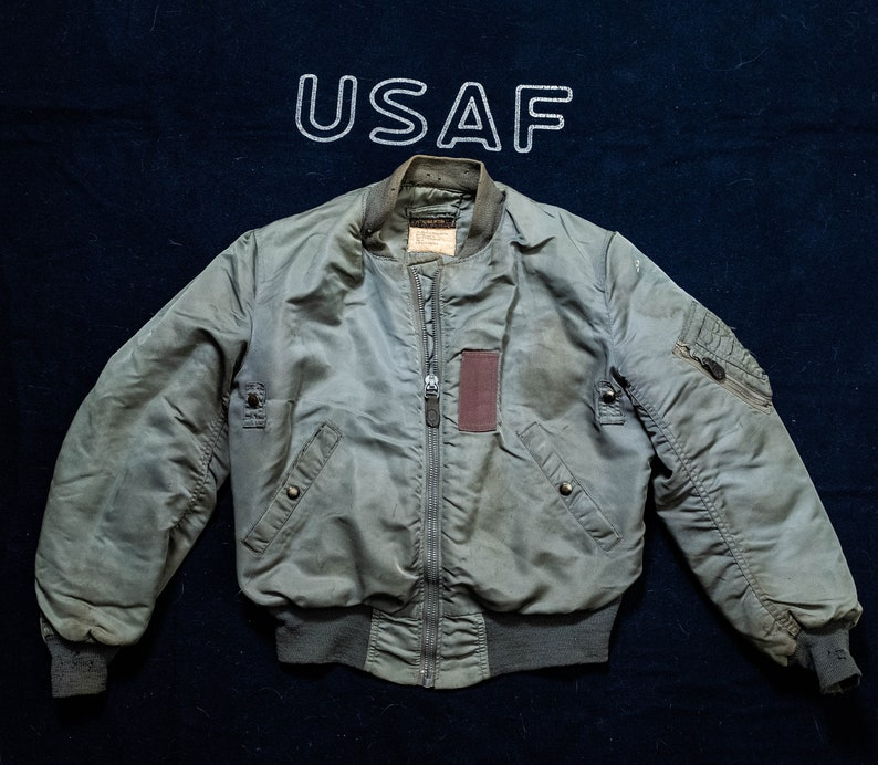647cef8827 Ultra Rare 1950 s B-15D Mod USAF Flight Jacket with Mod
