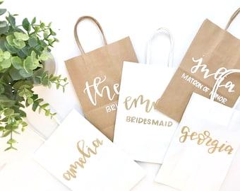 BEST SELLER bridal party gift bags- bridesmaid gifts, maid of honor gifts, bridesmaid proposal, bridesmaid gift bag