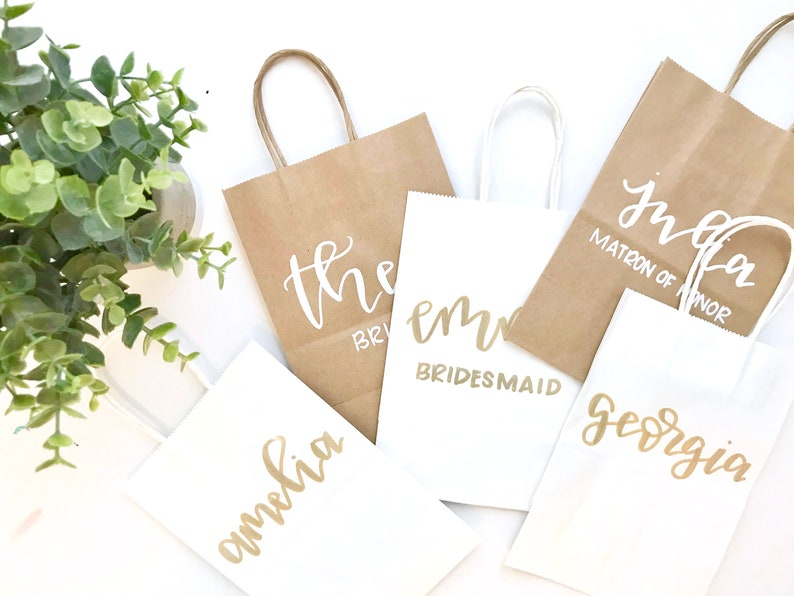 BEST SELLER bridal party gift bags bridesmaid gifts maid of image 0