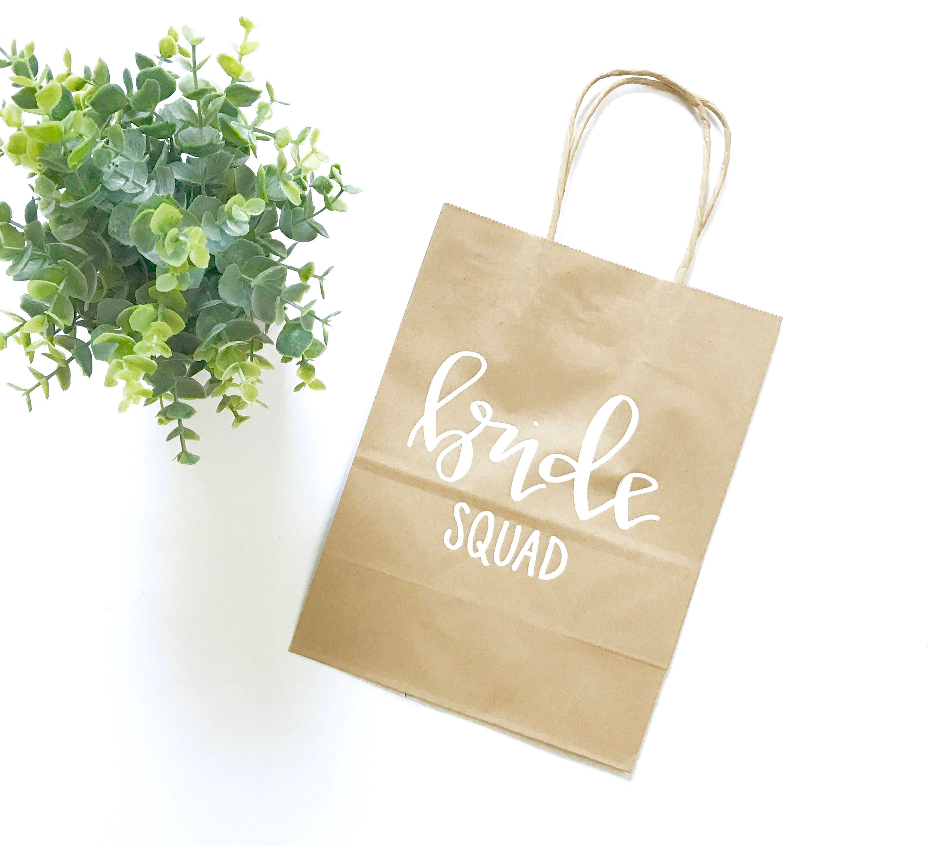 Bride Squad Wedding Party Gift Bags Bachelorette Party Etsy