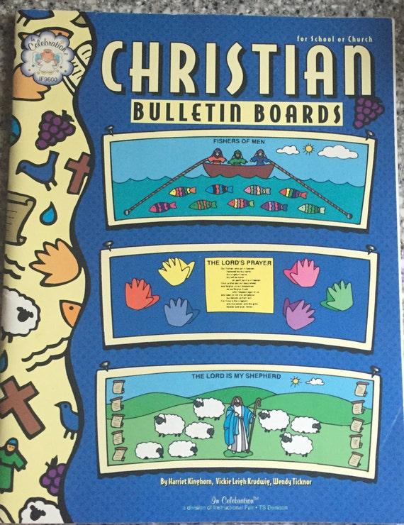 christian bulletin boards book for school or church kids etsy