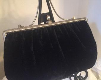 Black Velvet Soft Handbag Black velvet Purse black velvet Clutch black Prom Purse velvet Wedding clutch LOVE IT ALL Boutique