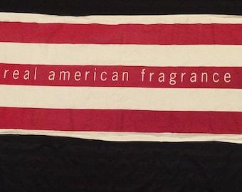 Vintage Tommy Hilfiger Big Logo Advertising Banner Real American Fragrance Stripes, Vintage advertising, Hilfiger Spellout