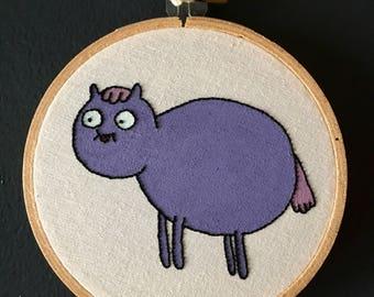 Poo-brain horse