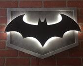 NEW!! Illuminated LED Arkham Knight Batman Batsignal comicbook Superhero Logo Nightlight for Mancave, Gameroom or Child's Bedroom