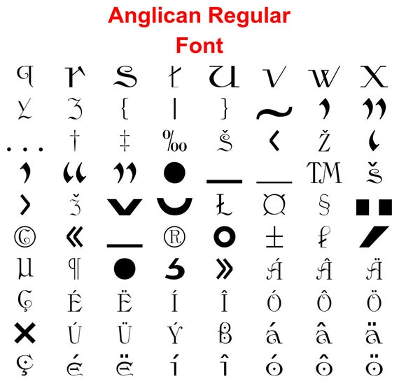 Anglican Svg Fonts Files Eps Dxf Png Studio3 Etsy