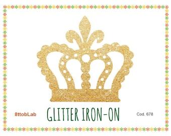 glitter crown 1 iron-on