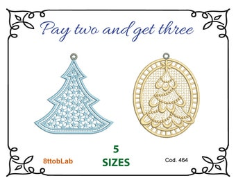 Embroidery design Christmas tree