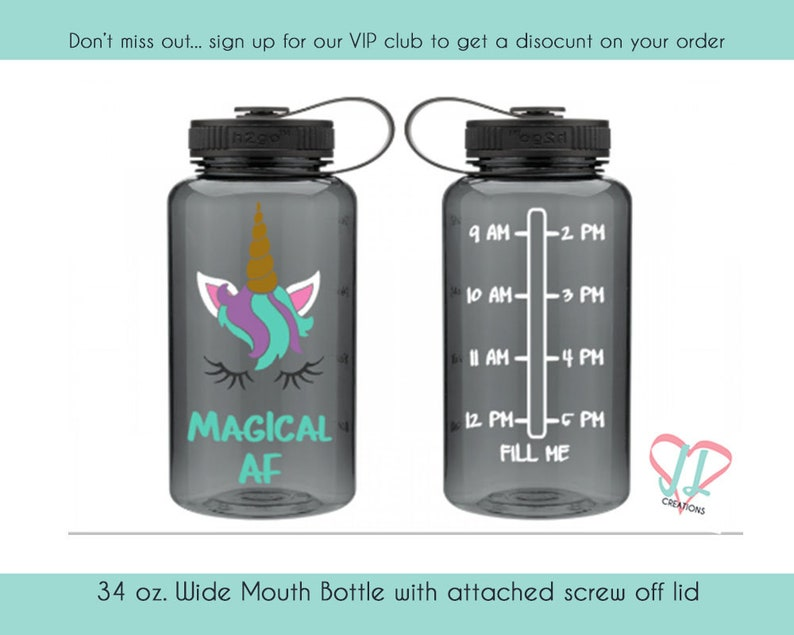 Magical AF  Unicorn Water Tracker  Water bottle Tracker  34 image 0
