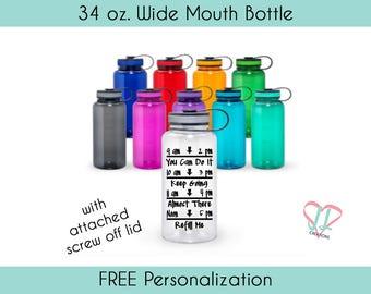 Water Tracker Bottle - 34 oz - Water Bottle