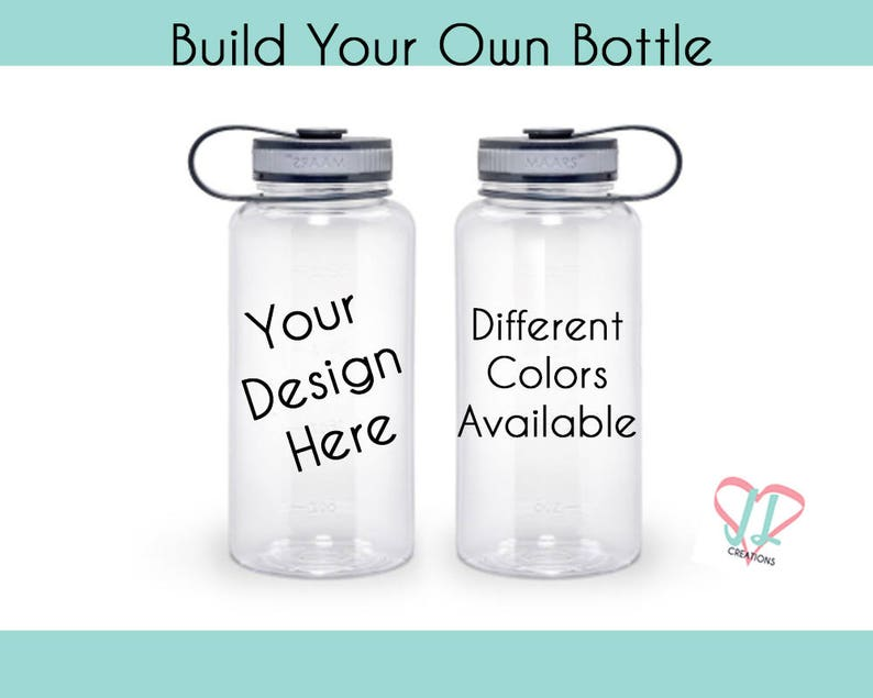 Build Your Own Water Bottle  Water Bottle  Personalized image 0