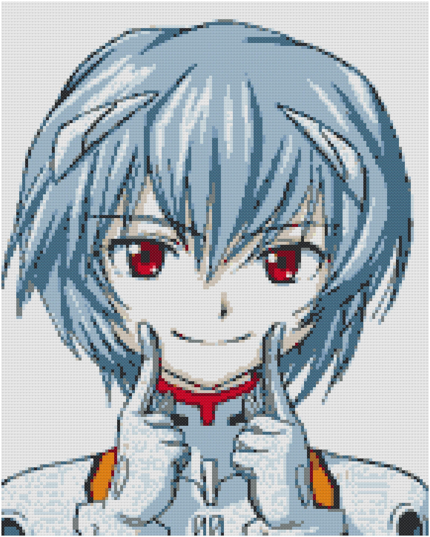 Neon Genesis Evangelion Cross Stitch: Rei Ayanami