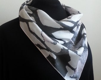 Luxurious Silk Cowl Scarf - End Of October design